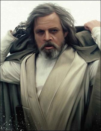 Lors du duel final contre Dark Vador, quelle est la couleur du sabre laser de Luke ?