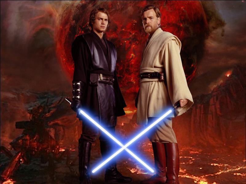 Où se combattent Anakin et Obi-Wan Kenobi dans l'épisode 3 ?