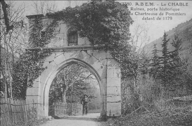 En quelle année la chartreuse de Pomier a-t-elle été fondée ?