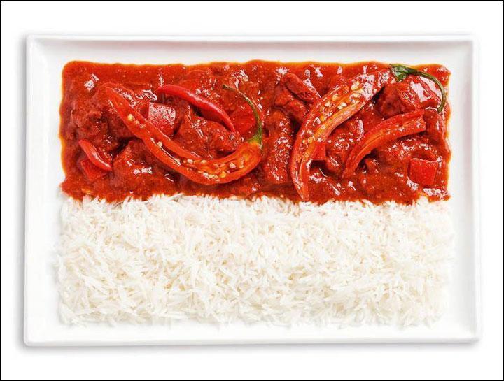 Du piment et du riz. J'adore ça, enfin si le piment ne pique pas trop. J'en ai mangé quand je suis parti...
