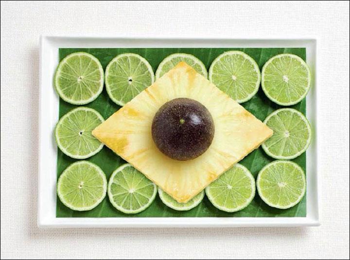 De l'avocat, de l'ananas et du citron vert. Rien de tel pour représenter...