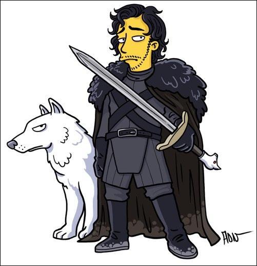 Son emblème, un loup blanc qu'il a adopté tout petit !