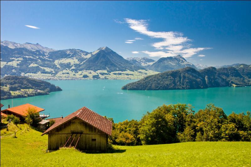 Parmi ces villes suisses, laquelle se situe sur les rives du lac des Quatre-Cantons ?