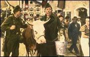 Quel est le prénom de cette vache qui accompagne ' le prisonnier ' Fernandel ?