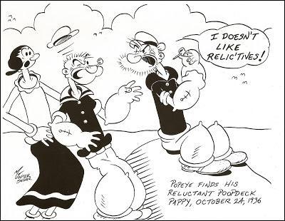Côté famille, on peut noter l'apparition du père de Popeye à de nombreuses reprises. C'est un personnage bougon et âgé de 99 ans. Comment se nomme-t-il ?
