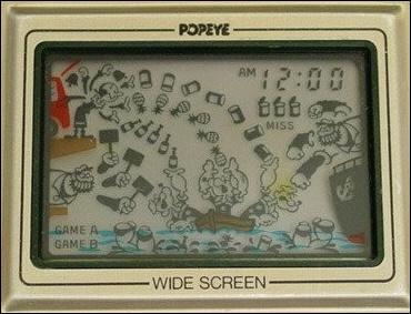 Devant le succès d'un tel jeu, le syndicat, détenant les droits de Popeye, accepte qu'on utilise ses personnages dans un jeu d'arcade. Mais en attendant la création d'un jeu d'arcade, Nintendo décide la création d'un jeu électronique. Sur quelle console ?