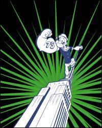À l'occasion du 75e anniversaire de Popeye, un monument américain s'illumine en vert en référence à la couleur des épinards que mange Popeye. De quel monument s'agit-il ?