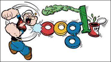 En 2009, alors que le personnage de Popeye est entré dans le domaine public en Union européenne ; le 8 décembre, Google se met à l'effigie de Popeye. Pour quelle occasion ?