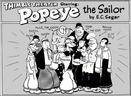 """Devant les premiers succès que rencontre Popeye, le comic strip sera renommé en """"Thimble Theatre Starring Popeye"""" et Popeye deviendra alors le personnage principal. Mais en quelle année ?"""