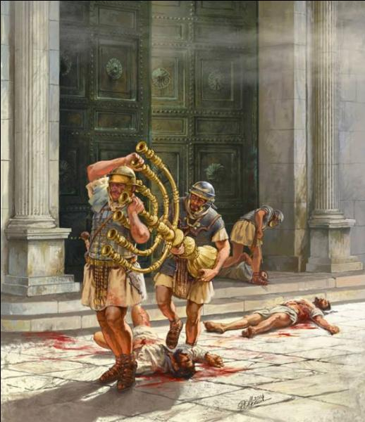 Quel empereur romain ordonna le pillage et la destruction complète du temple de Jérusalem ?