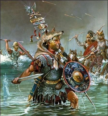 Qui est le premier Romain à débarquer avec ses troupes en Bretagne ?