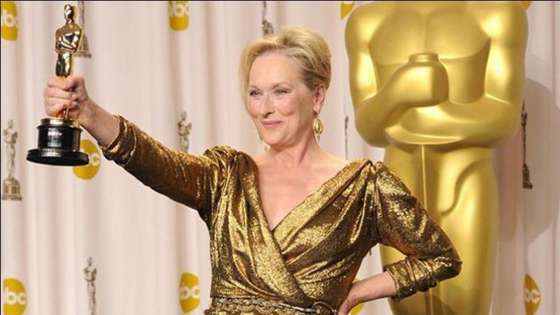 "Meryl Streep l'a reçu pour ""La Dame de fer"" en :"