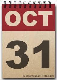 Quelle fête est associée au 31 octobre ?