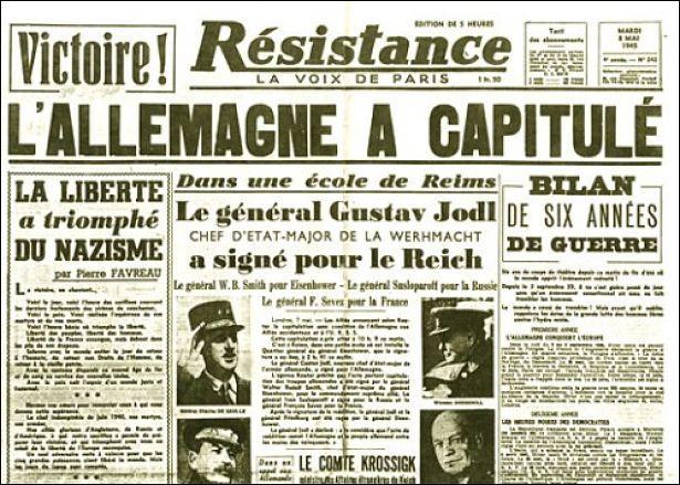 Quand fut la fin de la Seconde Guerre mondiale en Europe ?