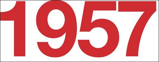 Que s'est-il passé en 1957 ?