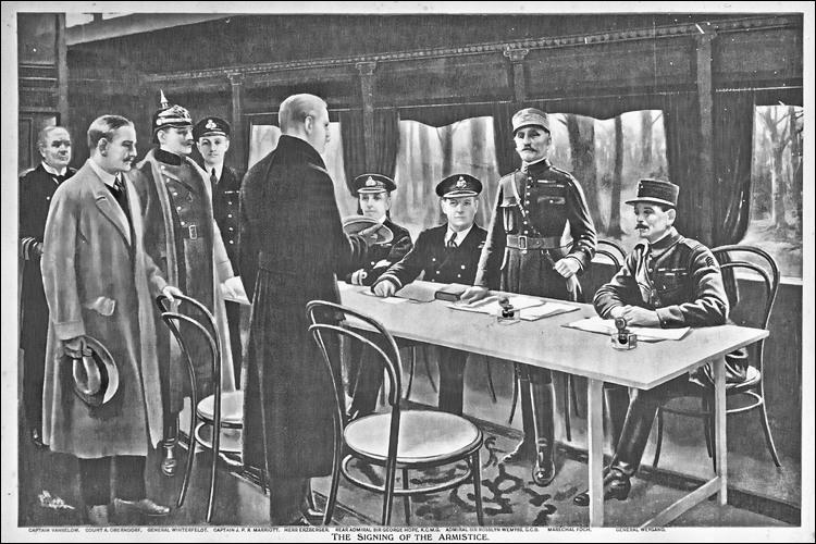 Quand fut l'armistice de la Grande Guerre ?