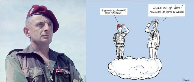 Ce militaire a la particularité d'avoir été un des rares (voir le seul) à avoir commencé sa carrière militaire comme « soldat de 2e classe » pour finir « général de corps d'armée » (4 étoiles). Il sera également un homme politique. Sa carrière militaire commença en 1936 pour se terminer en 1976.Qui est cet homme ?