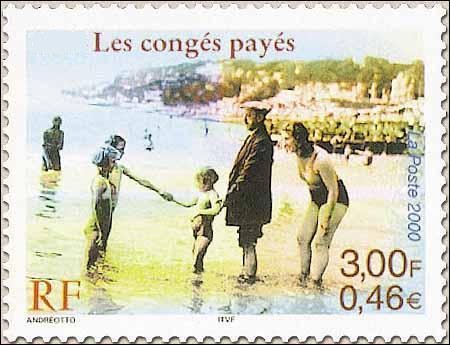 En quelle année les congés payés apparaissent-ils en France ?