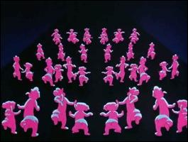 Dans quel film de Disney retrouve-t-on cette danse des éléphants roses ?