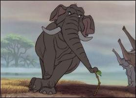 Eléphant miltaire que l'on retrouve dans ' le livre de la jungle ' de Disney .
