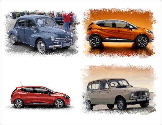 Quelle est la marque commune de ces voitures ?