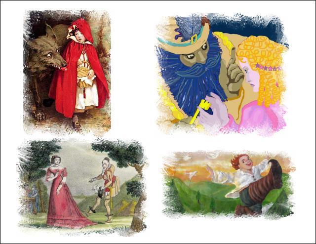 De quel auteur sont les contes illustrés ?
