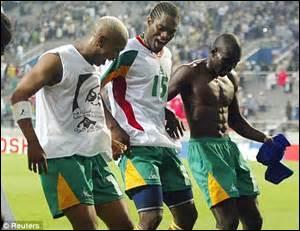 COUPE DU MONDE 2002 - Match d'ouverture de la compétition, le début du calvaire pour les Bleus, battus d'entrée par une équipe africaine 1-0, qui dispute sa première Coupe du monde : quelle est cette équipe ?