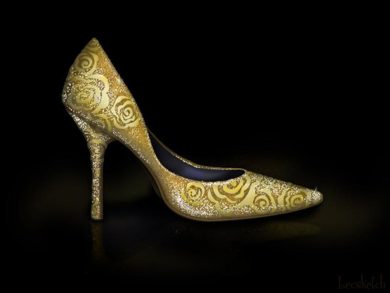 Cette chaussure est inspirée de quel gentil personnage ? (indice : Elle a touché la rose magique)