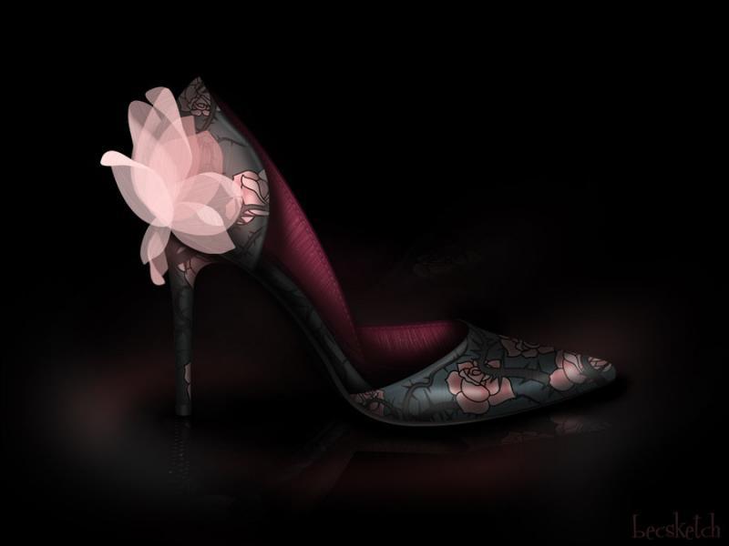 Cette chaussure est inspirée de quel méchant personnage ? (indice : Elle dort beaucoup)