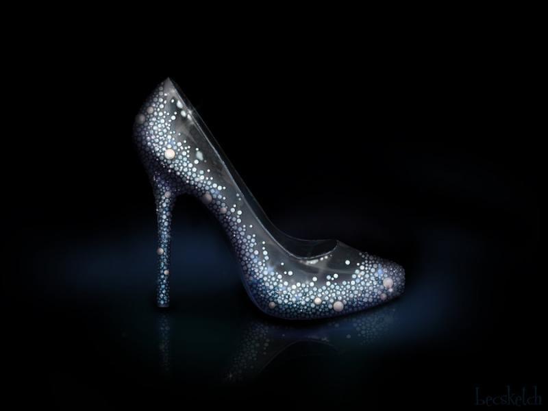 Cette chaussure est inspirée de quel méchant personnage ? (indice : Elle a enfermé une blonde)