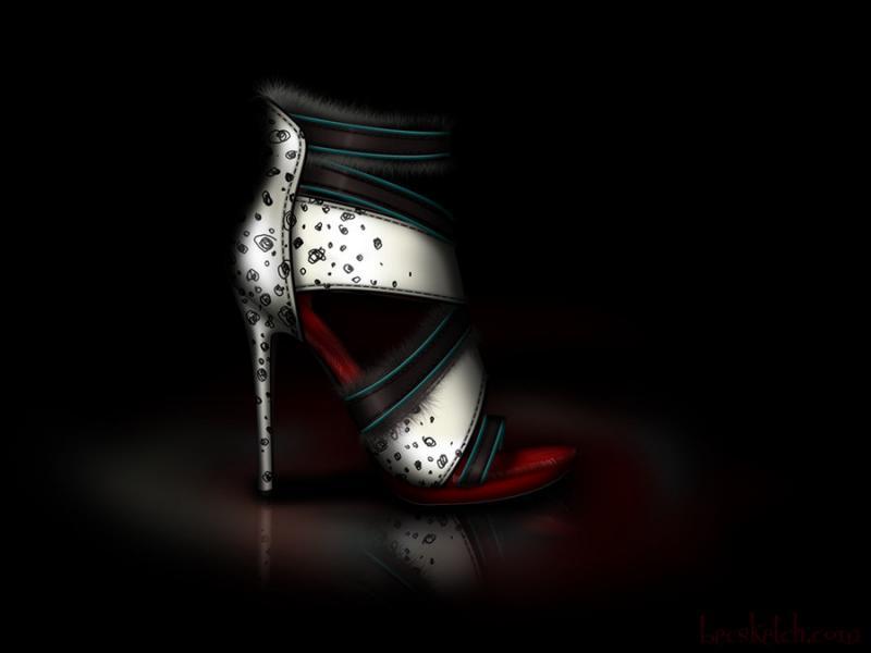 Cette chaussure est inspirée de quel méchant personnage ? (indice : Elle aime les chiens)