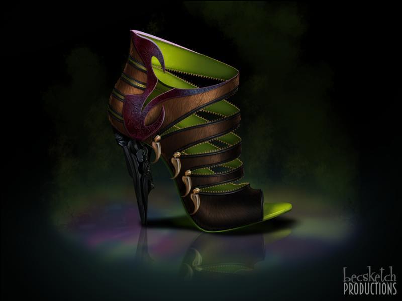 Cette chaussure est inspirée de quel méchant personnage ? (indice : Ce n'est pas un être humain)
