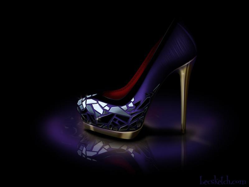 Cette chaussure est inspirée de quel méchant personnage ? (indice : Elle aime les pommes)