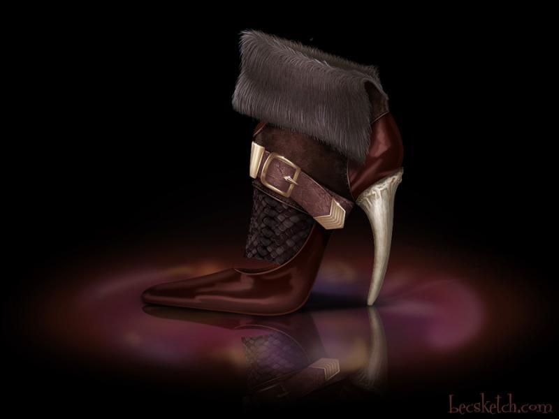 Cette chaussure est inspirée de quel méchant personnage ? (indice : C'est un homme qui s'aime beaucoup)