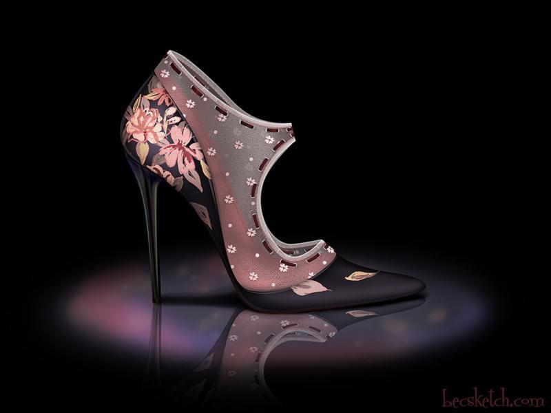 Cette chaussure est inspirée de quel gentil personnage ? (indice : Elle aime les parapluies)