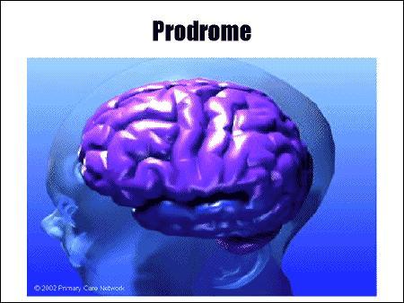 """Vous avez mal à la tête, c'est sans doute le """"prodrome"""", c'est à dire ..."""