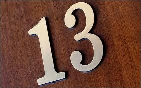 Quizz autour du 39 13 39 quiz culture generale for Peur du chiffre 13