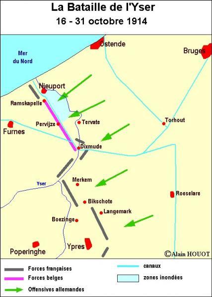 Quel fut le coup de génie de l'armée belge pour arrêter les Allemands sur l'Yser ?