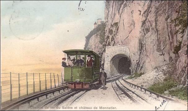 Quel était l'écartement des rails de roulement sur le chemin de fer du Salève ?