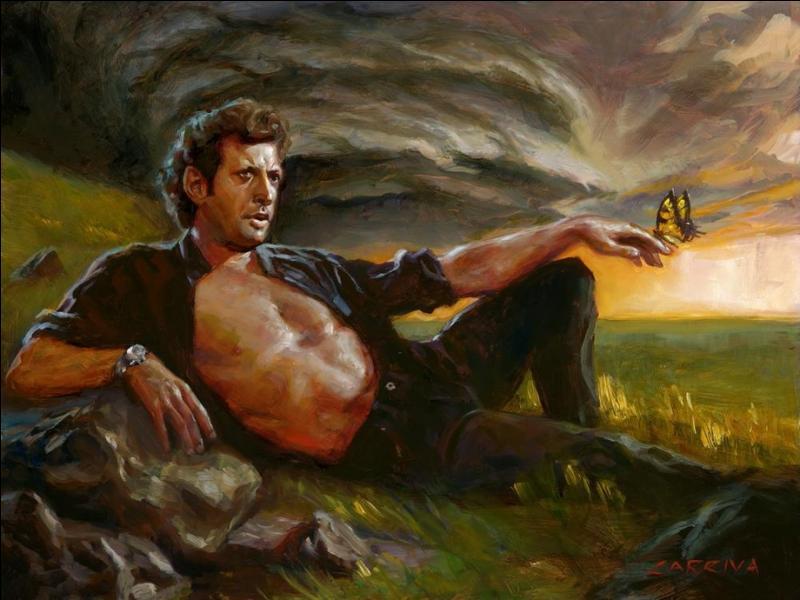 """Dans le roman """"Jurassic Park : Le monde perdu"""", quelle théorie sur la disparition des dinosaures le personnage de Ian Malcom essaye-t-il de démontrer en allant sur le site B ?"""