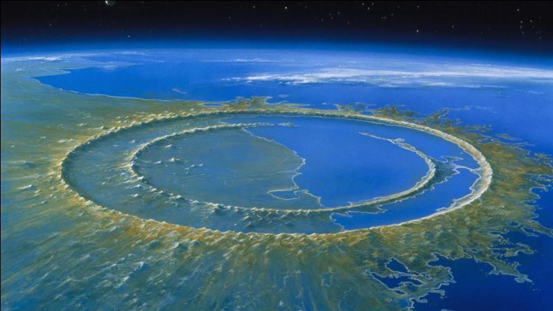 Comment s'appelle le cratère provoqué par la météorite qui s'est écrasée à la fin du règne des dinosaures ?