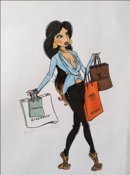Comment s'appelle cette jeune femme ayant fait du shopping dans de grandes enseignes ?