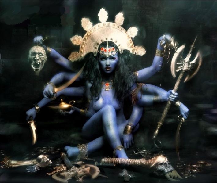 Déesse indienne de la destruction guerrière. Qui est-elle ?