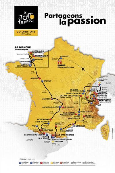 Samedi 2 juillet 2016 se déroulait la première étape de la ______ édition du Tour de France.