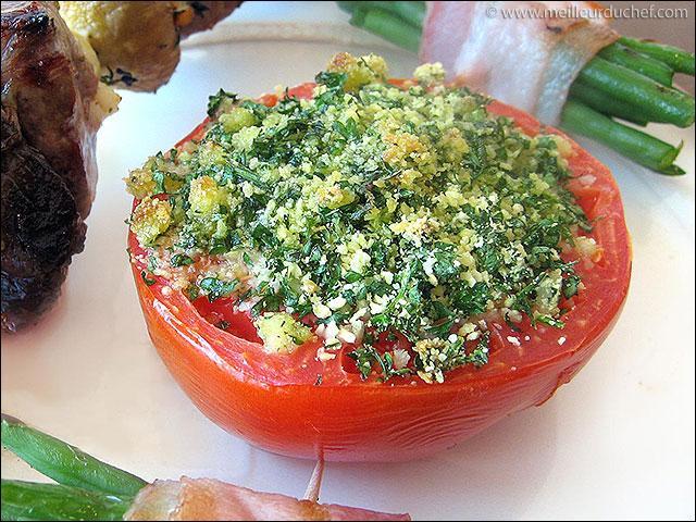 Quel est le nom de cette préparation recouverte d'un mélange de persil ail et chapelure?