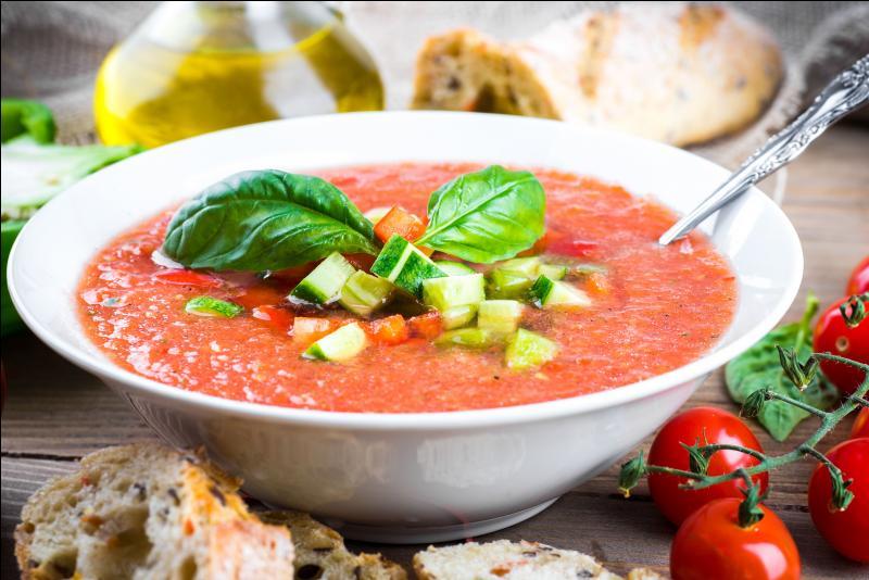 Quel est ce potage à base de tomate, servi froid ?