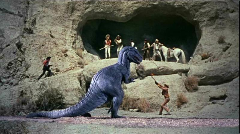 Quel est le titre de ce film de 1969 où l'action se déroule au temps du Far West, et où un Allosaure nommé Gwangi se fait capturer par une bande de cow-boys avant de se faire exhiber dans un cirque ?