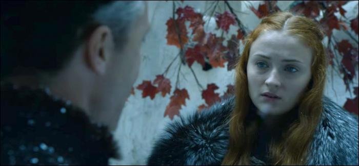 Quelle est la couleur de la robe de mariage de Sansa Stark ?