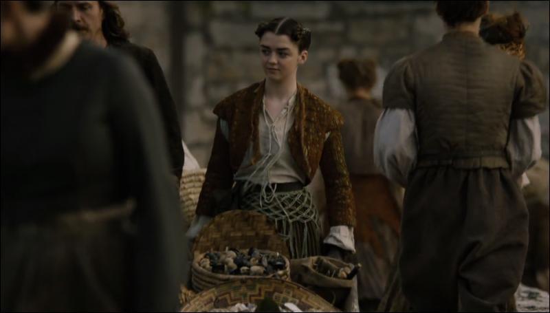 Que dit Arya lors de sa première mission pour les Sans-Visage ?