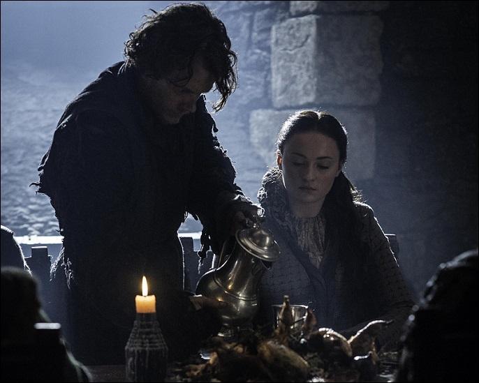 Où Sansa découvre-t-elle Theon ? (Reek)